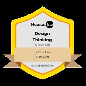Design Thinking Certificate